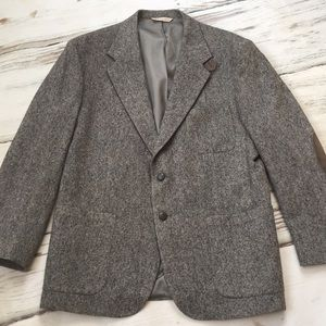 Stafford Wool Blazer Jacket Suit Coat Wool Gray 44